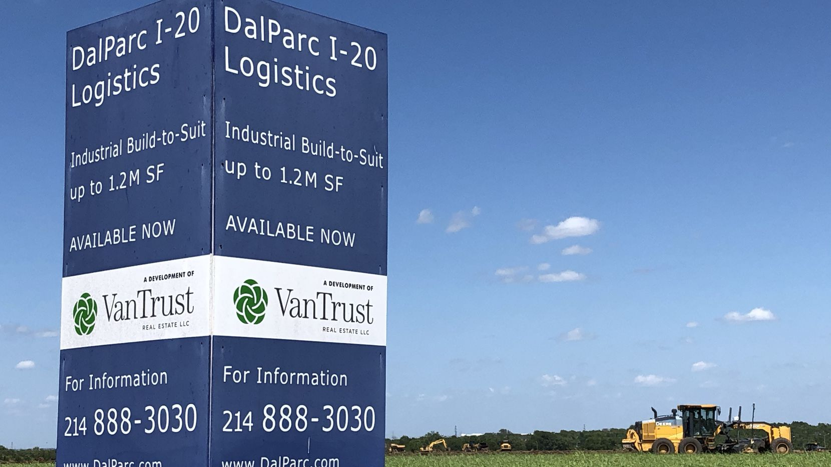 VanTrust Real Estate has started its more than 1 million square foot industrial project in southern Dallas County.