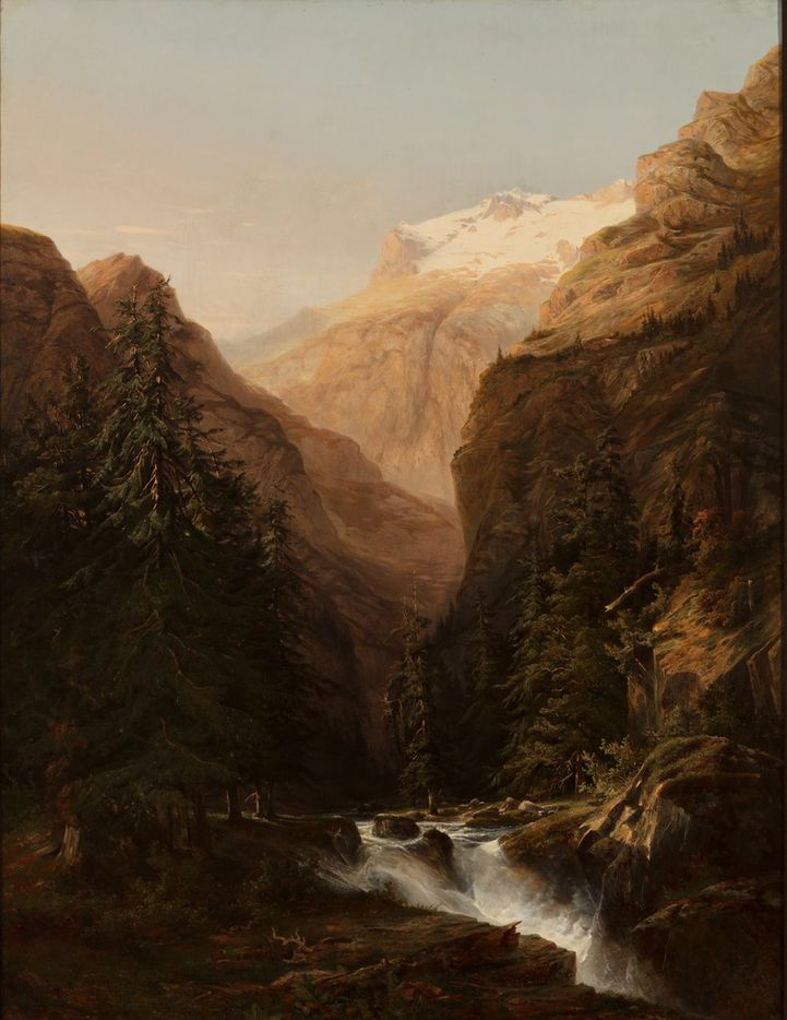 Alexandre  Calame,  Vue  du  Handeck,  c.  1837,  oil  on  canvas,  73  1/16  x  57  5/8.  Courtesy  of  the  Barrett  Collection