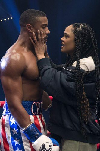 Michael B. Jordan y Tessa Thompson en Creed II (2018)