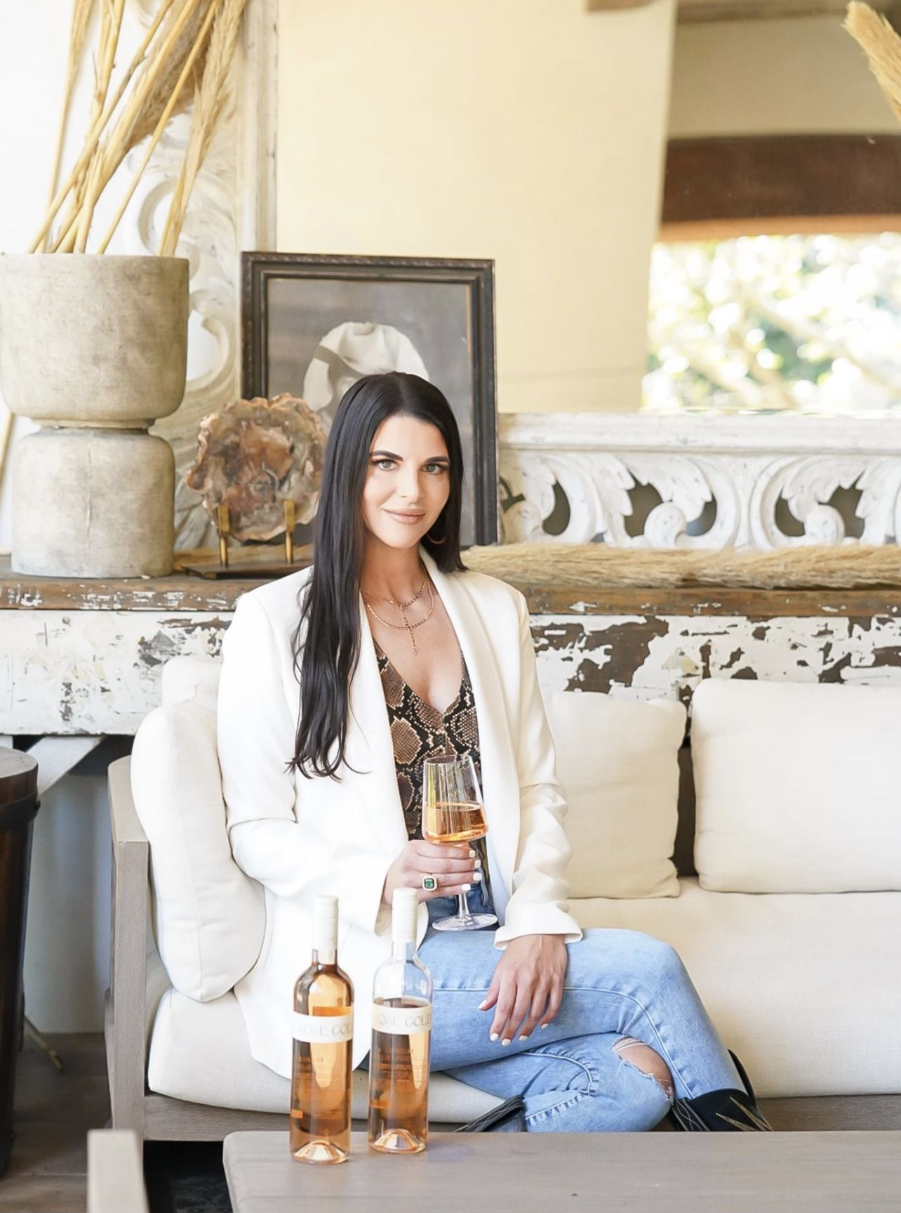 Dallas-based Casey Barber owns Rose Gold Rose' wines.