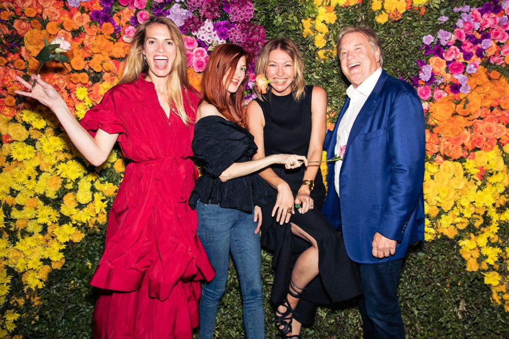 Form left, Laura Brock, Taylor Tomasi Hill, Jeny Bania and Joule founder Tim Headington at the 2017 Eye Ball party across from the Joule Hotel closing out Dallas Art Fair