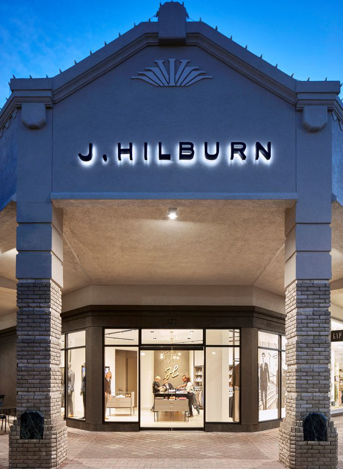 J. Hilburn showroom at Inwood Village in Dallas.