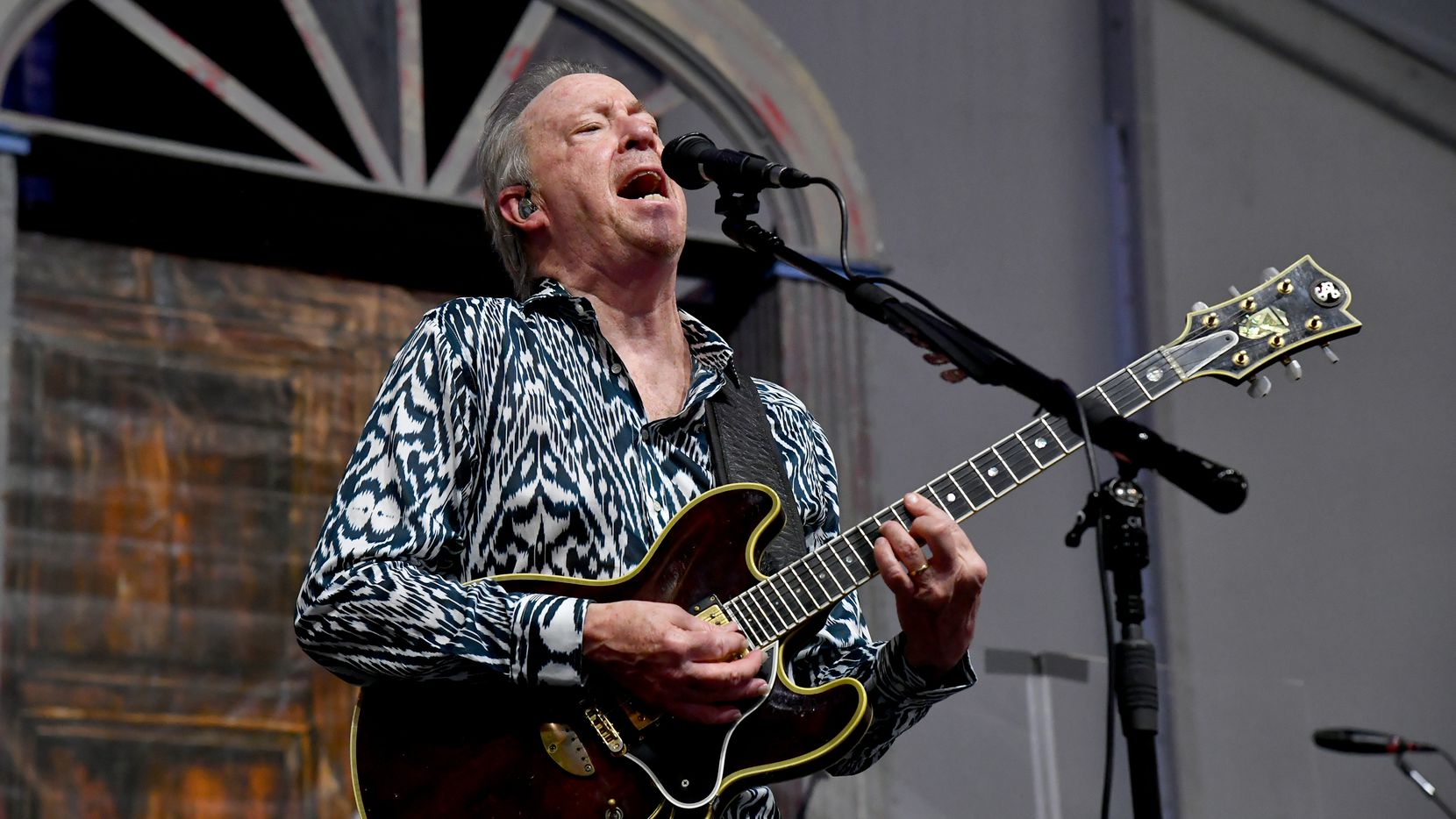 NEW ORLEANS, LA - APRIL 27:  Boz Scaggs performs during the New Orleans Jazz and Heritage Festival 2019 50th Anniversary at Fair Grounds Race Course on April 27, 2019 in New Orleans, Louisiana. (Photo by Jeff Kravitz/FilmMagic)
