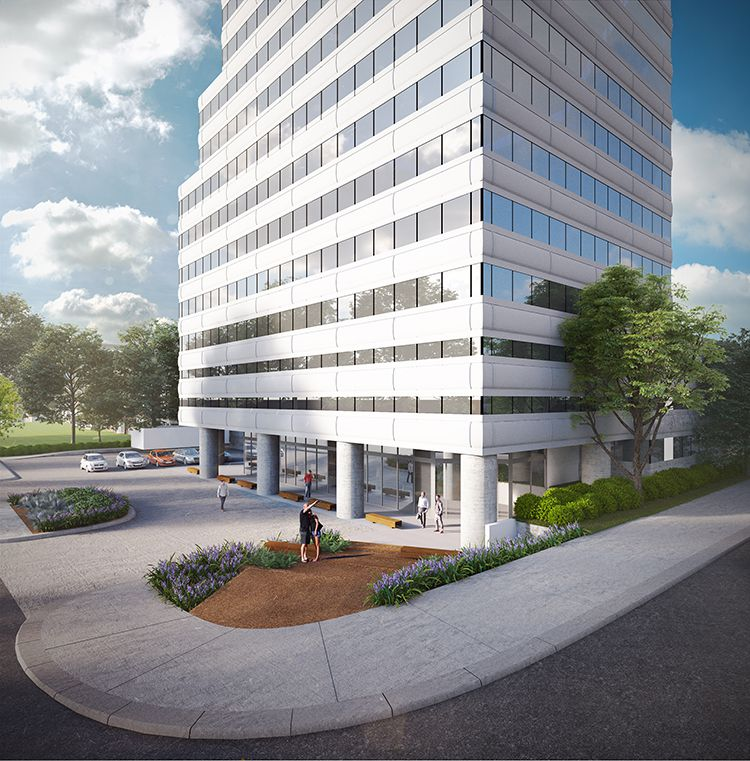 The 35-year-old Hall Street office tower in Oak Lawn is getting a makeover.