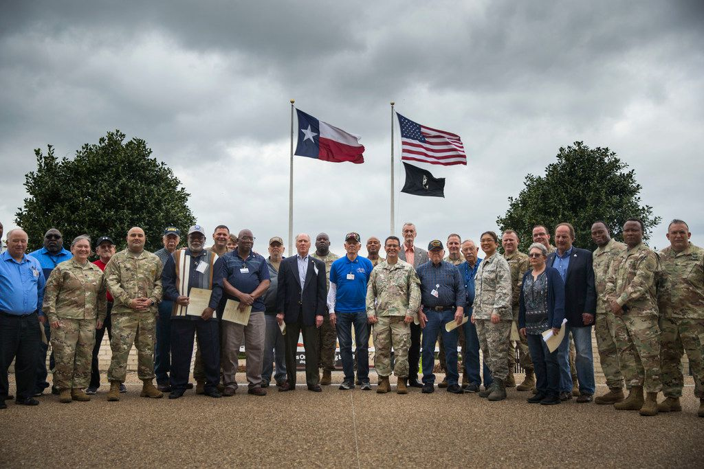 Vietnam veterans were honored Friday by other service members at the Army and Air Force Exchange Service in Dallas.
