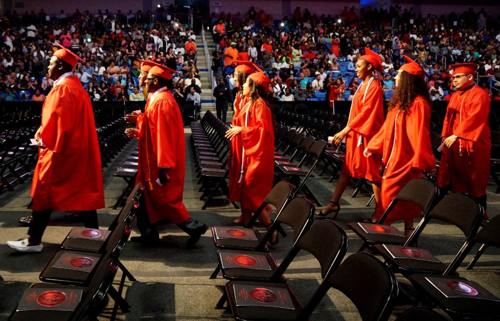 Cedar Hill High School celebrated its senior graduation at the College Park Center on the campus of University of Texas in Arlington, Texas on Friday May 26, 2017.