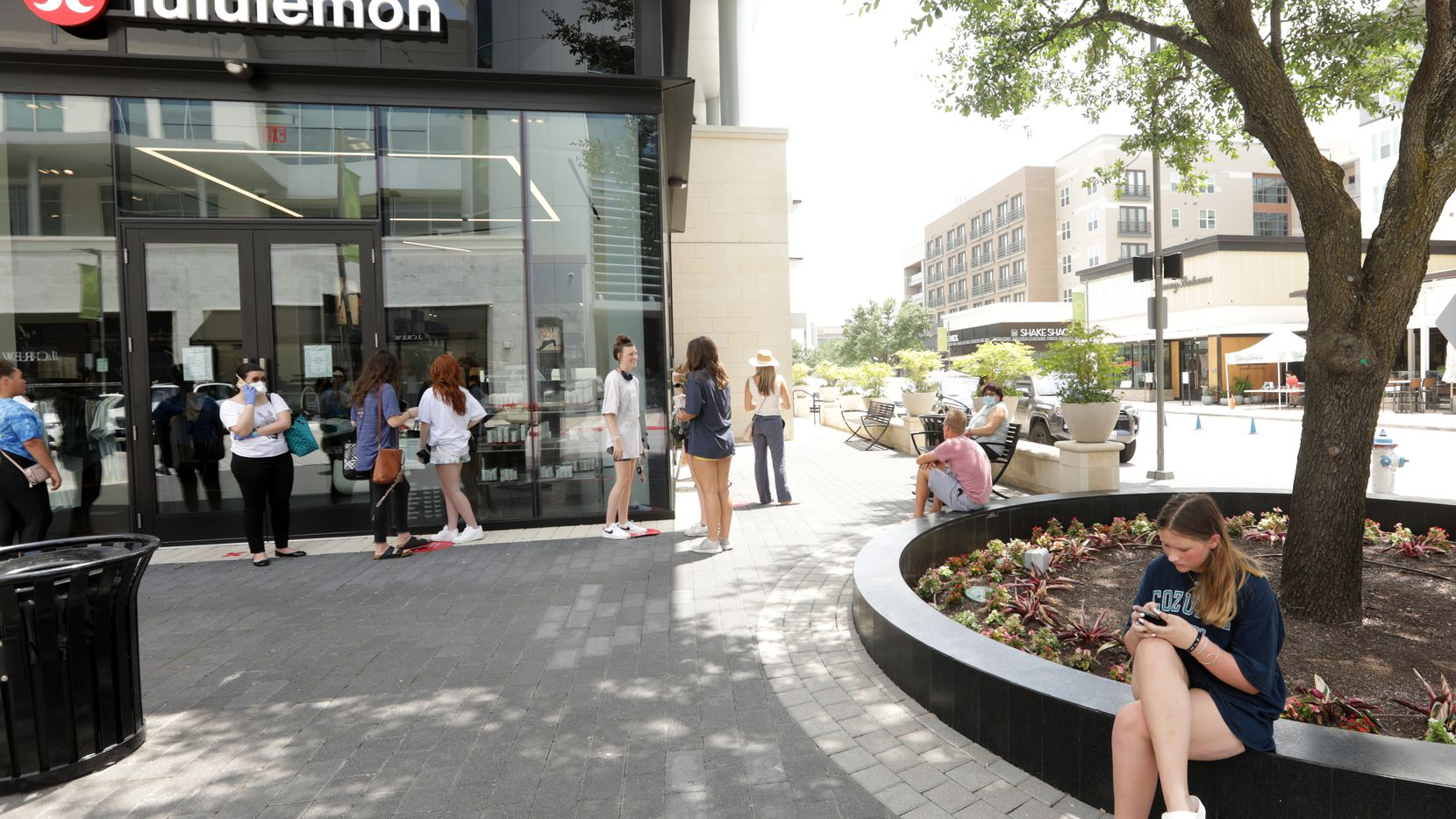 The shops at Legacy West in Plano on the Tuesday before the long Fourth of July weekend.