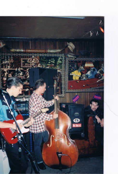 Matt Hillyer (left) and his Lone Star Trio were regulars at Naomi's — when Matt was just in high school
