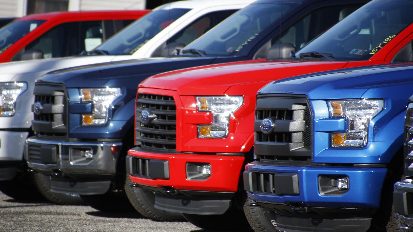 Vehículos F-150 de Ford, el vehículo más vendido en Estados Unidos.(AP)