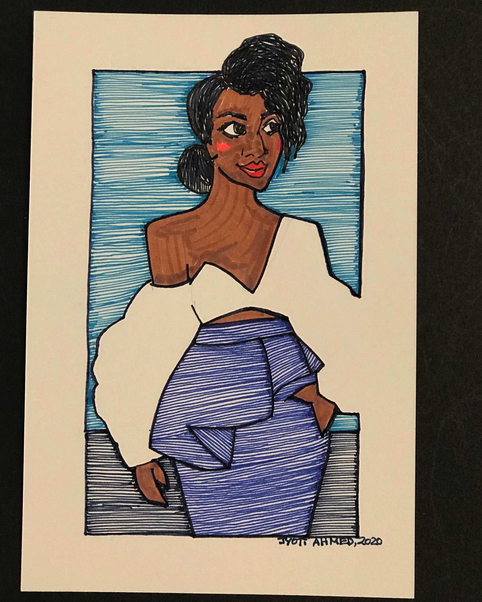 During the pandemic, Jyoti Ahmed began sending hand-drawn cards to people who need some encouragement.