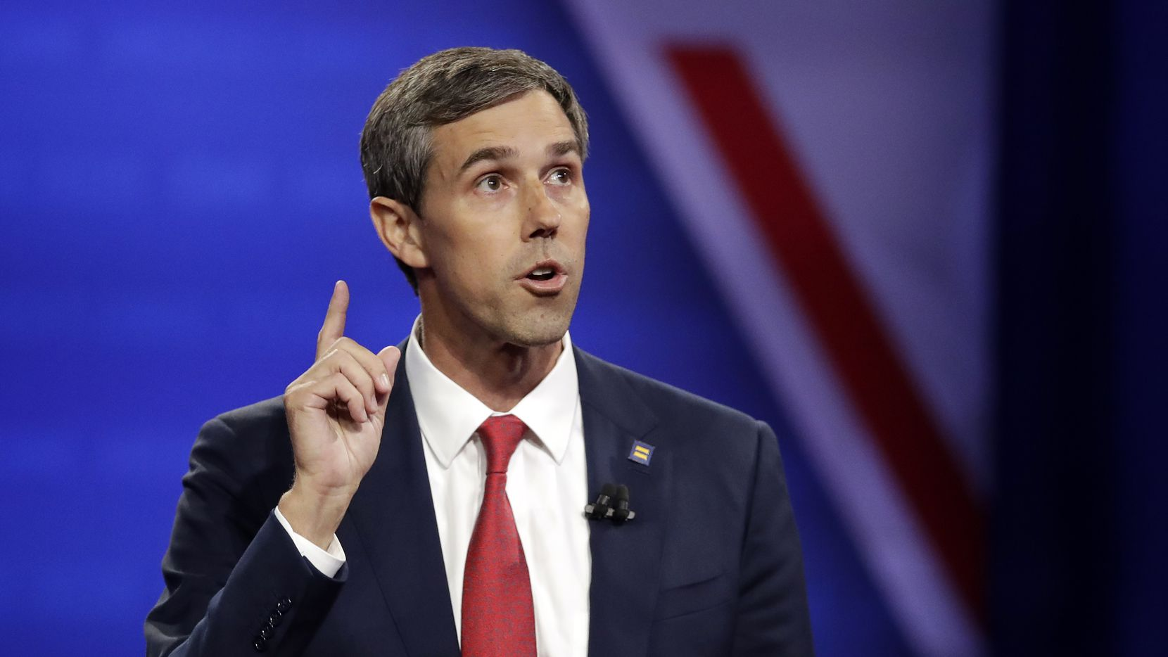 Beto O'Rourke speaks during the Power of our Pride Town Hall on Oct. 10, 2019, in Los Angeles. The LGBTQ-focused town hall featured nine 2020 Democratic presidential candidates.