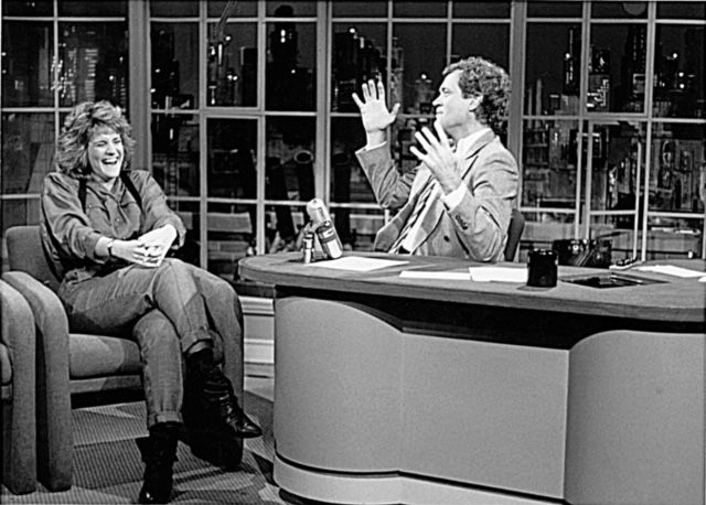 Carol Leifer appeared 25 times on David Letterman's Late Show on NBC, a record.