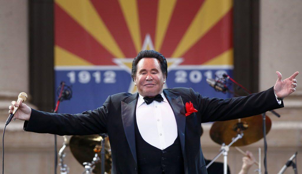 Entertainer Wayne Newton performs during the 100th anniversary celebration of Arizona's statehood in 2012. (AP Photo/Matt York)