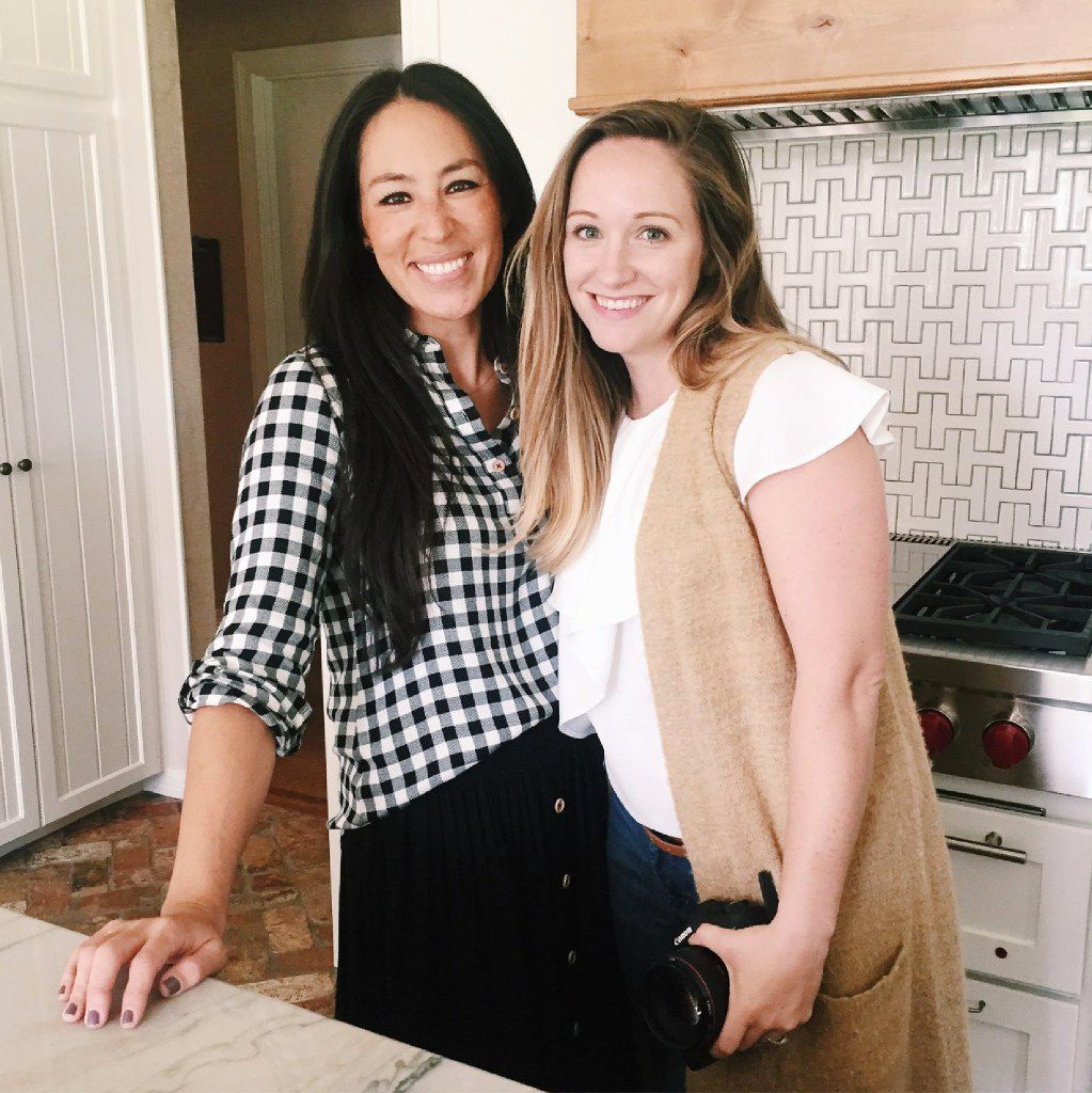Dallas-based photographer Jessica Barfield (right) is the official photographer for Chip and Joanna Gaines (left), stars of HGTV's Fixer Upper home improvement show from Waco, Texas.
