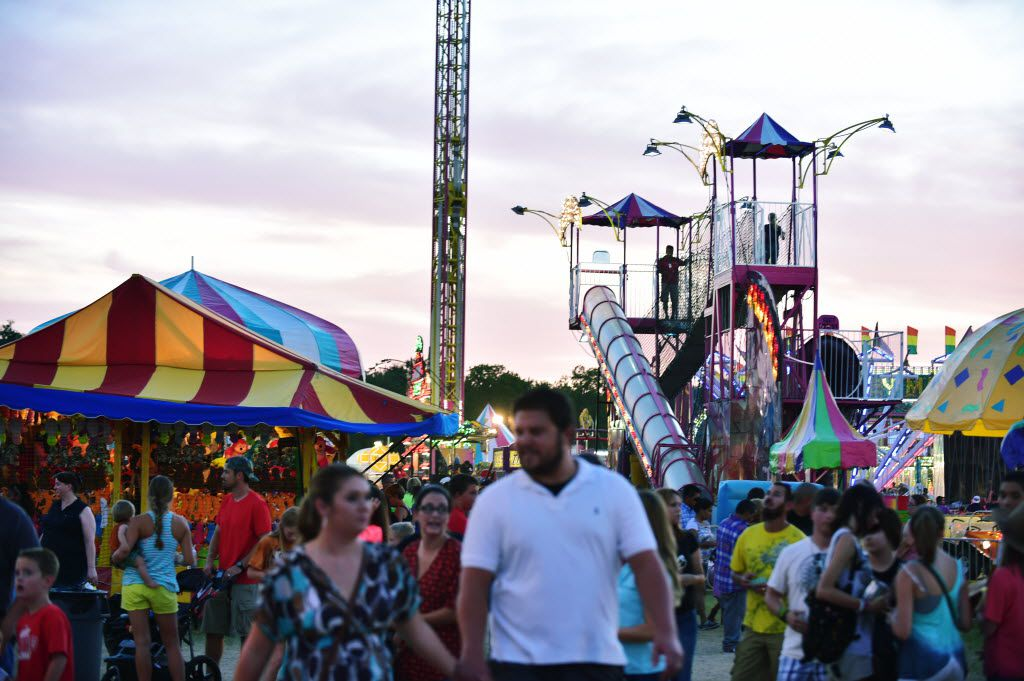 The Midway at the North Texas Fair and Rodeo, Saturday, August 23, 2014, in Denton, TX. David Minton/DRC