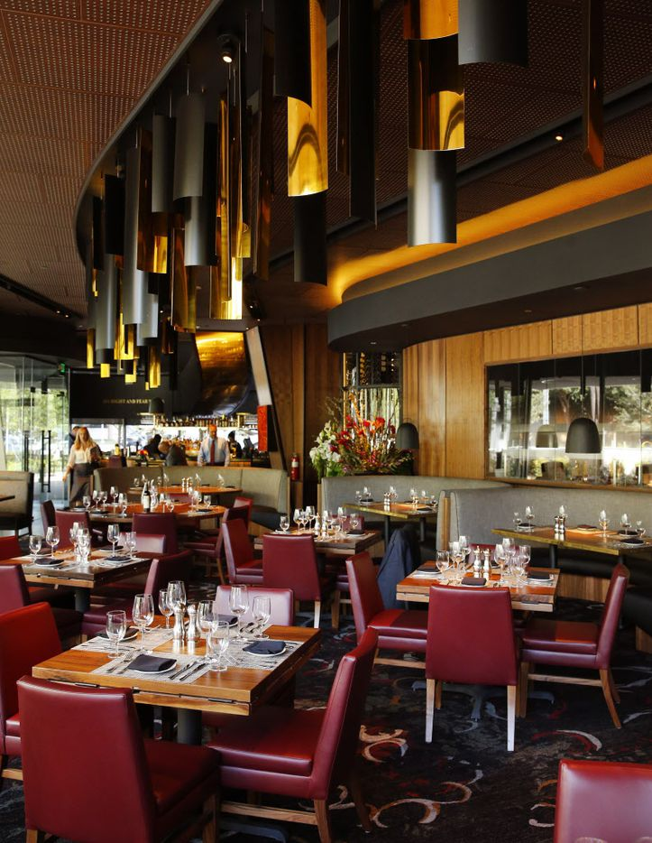 The main dining area on the lower floor of the new Del Frisco's Double Eagle Steak House in Uptown Dallas, Friday, September 9, 2016. The original, located on Spring Valley since 1994, has closed and the new one opens Saturday. (Tom Fox/The Dallas Morning News)