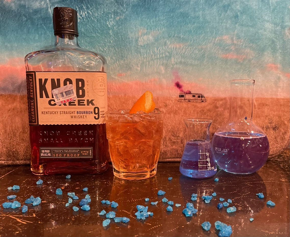 The Whippersnapper is taking on a temporary identity as a 'Breaking Bad' themed bar. It's expected to be open Jan. 14 through March 6. This is the Walter White cocktail, made with bourbon, bitters, sugar and an orange peel.