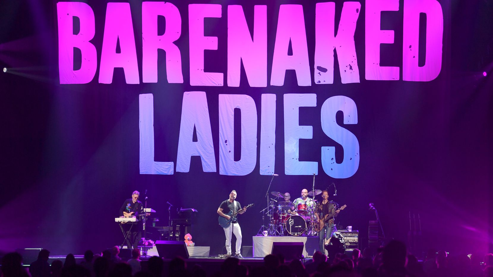 Kevin Hearn, Ed Robertson, Tyler Stewart and Jim Creeggan of the Barenaked Ladies perform at Bridgestone Arena on Sept. 7, 2019, in Nashville.