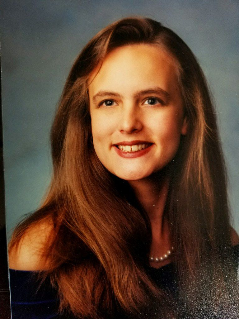 Stormy Daniels, whose real name is Stephanie Gregory Clifford, shown in high school.