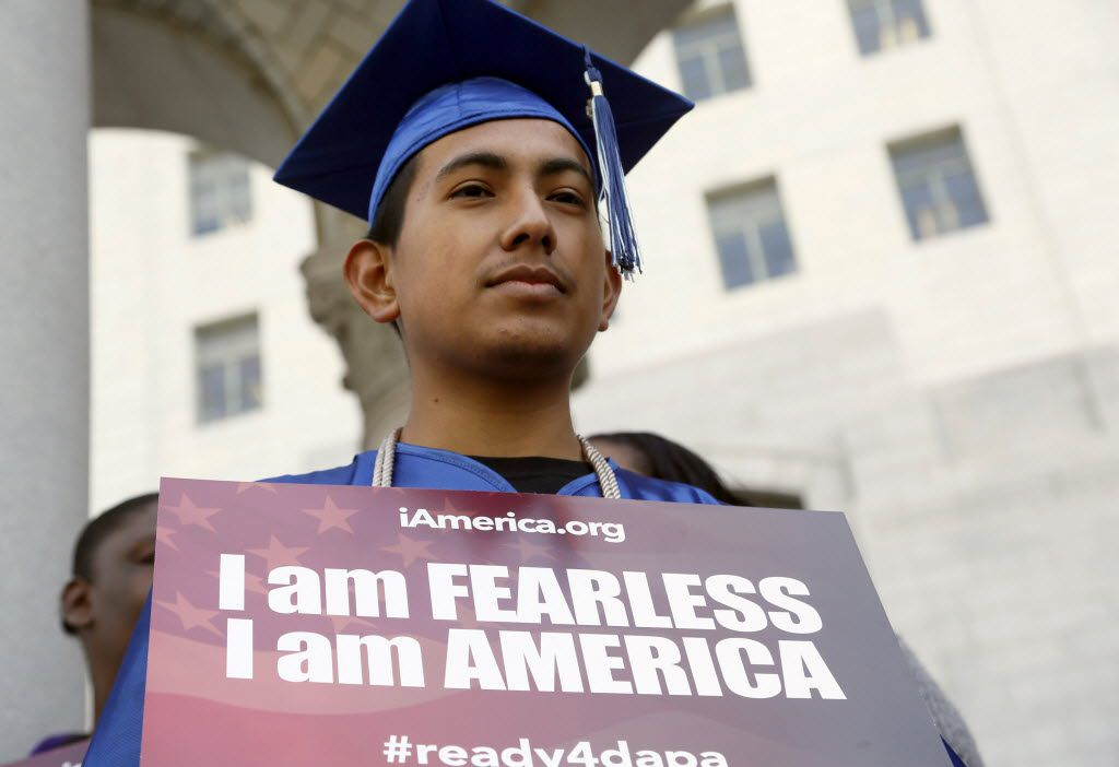 Immigrant Jose Montes attends an event on Deferred Action for Childhood Arrivals, DACA and Deferred Action for Parental Accountability, DAPA, part of the  immigration relief program, downtown Los Angeles Tuesday, Feb. 17, 2015.