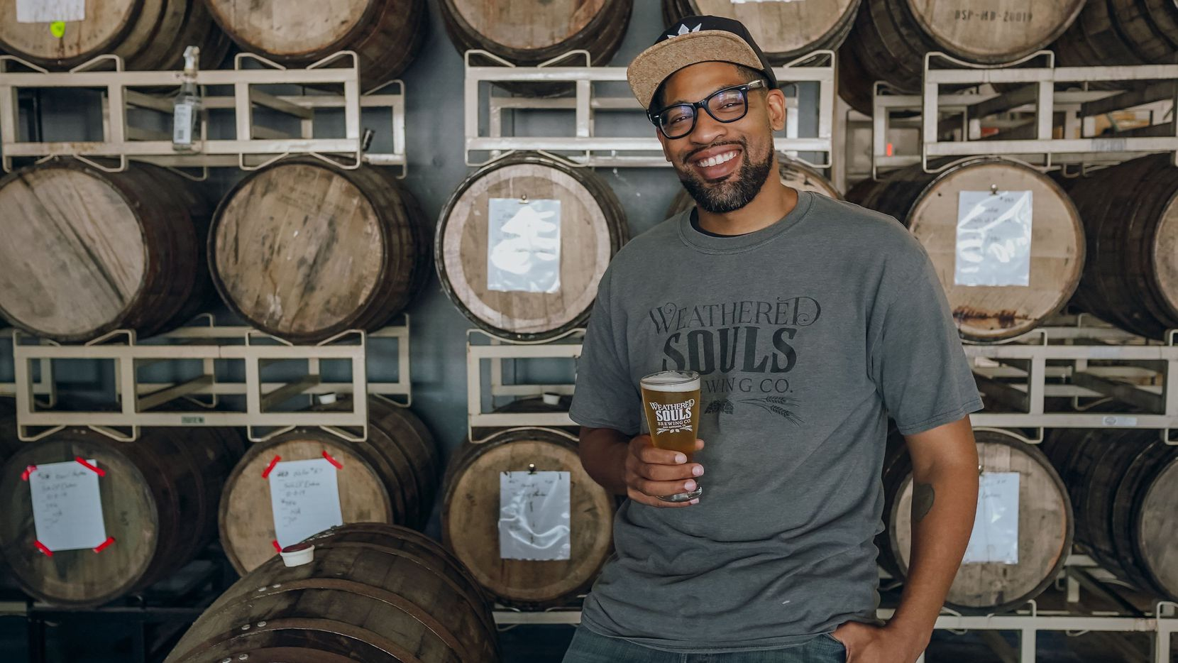 Marcus Baskerville, co owner of Weathered Souls Brewing in San Antonio and founder of Black is Beautiful