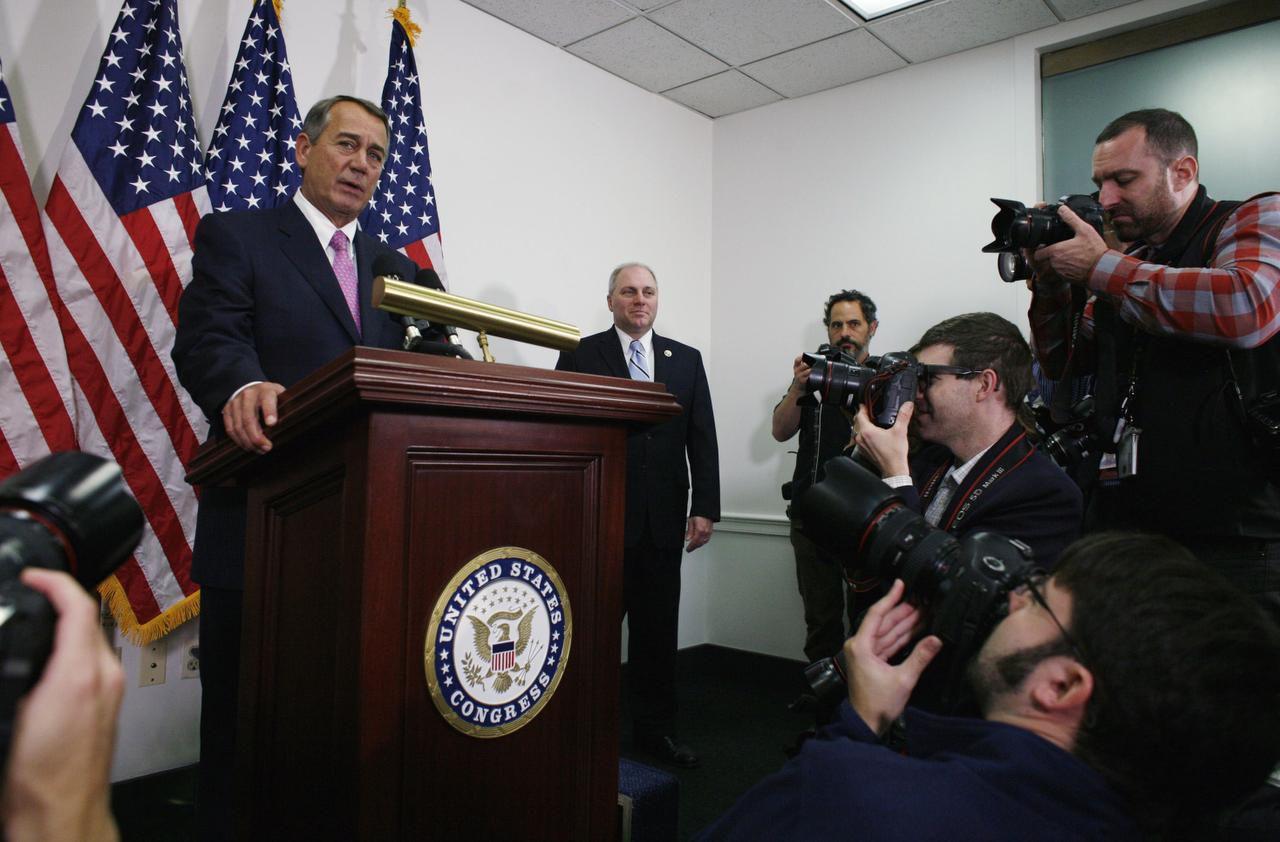 John Boehner, presidente saliente del Congreso, anunció un acuerdo que evitaría el cierre del gobierno y una crisis de deuda en Estados Unidos. (AP/LAUREN VICTORIA BURKE)