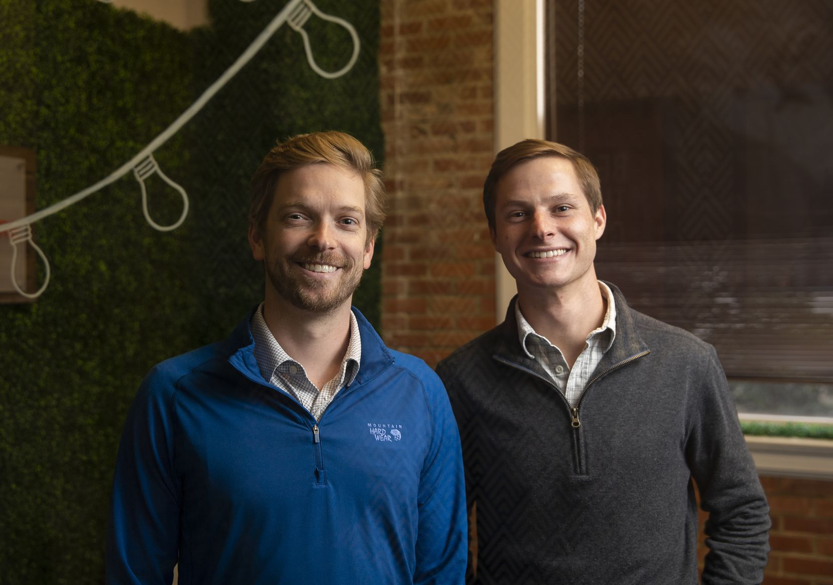 InspireMore founder and CEO Robert Neely Jr. (left) and chief marketing officer Hunter Stensrud pose for a portrait in their West End office space on Dec. 16, 2019. (Juan Figueroa/The Dallas Morning News)