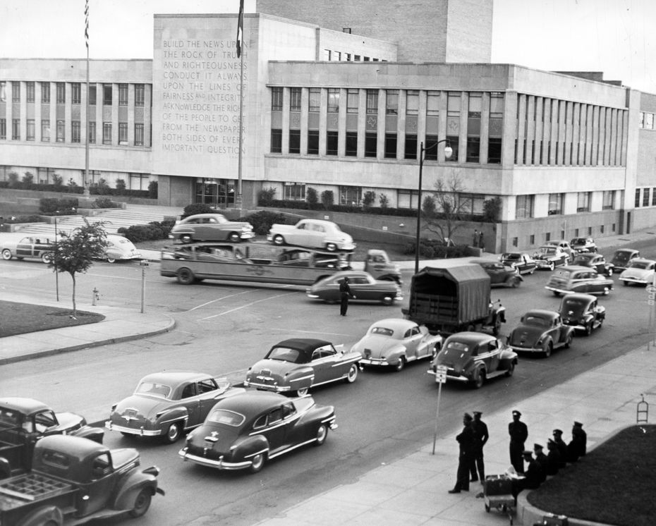 The Dallas Morning News building in 1949.
