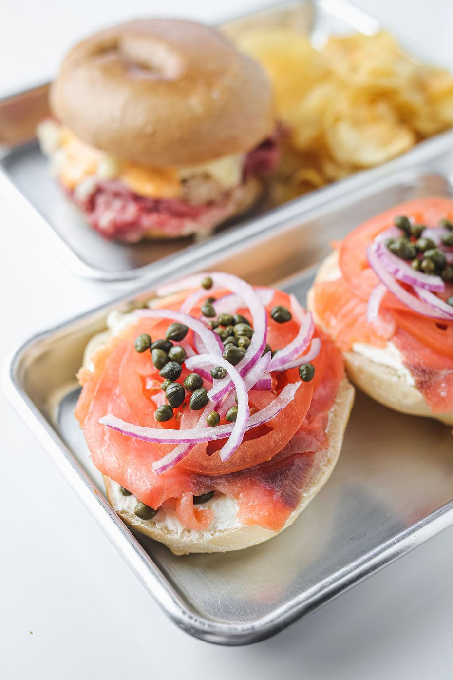 In addition to selling bagels and lox (pictured here), Bagel Cafe 21 will also sell tubs of lox-cream cheese when it opens in 2021 in Richardson.