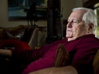 Veteran WFAA sports broadcaster Dale Hansen poses for a photo at his home in Waxahachie on Wednesday, Oct. 28, 2020. Hansen has built a loyal following and gained national fame for his social commentary calling out bad behavior and the reprehensible. However, his recent on-air remarks about women and pay have threatened his image. He issued an apology after viewers criticized his comments.