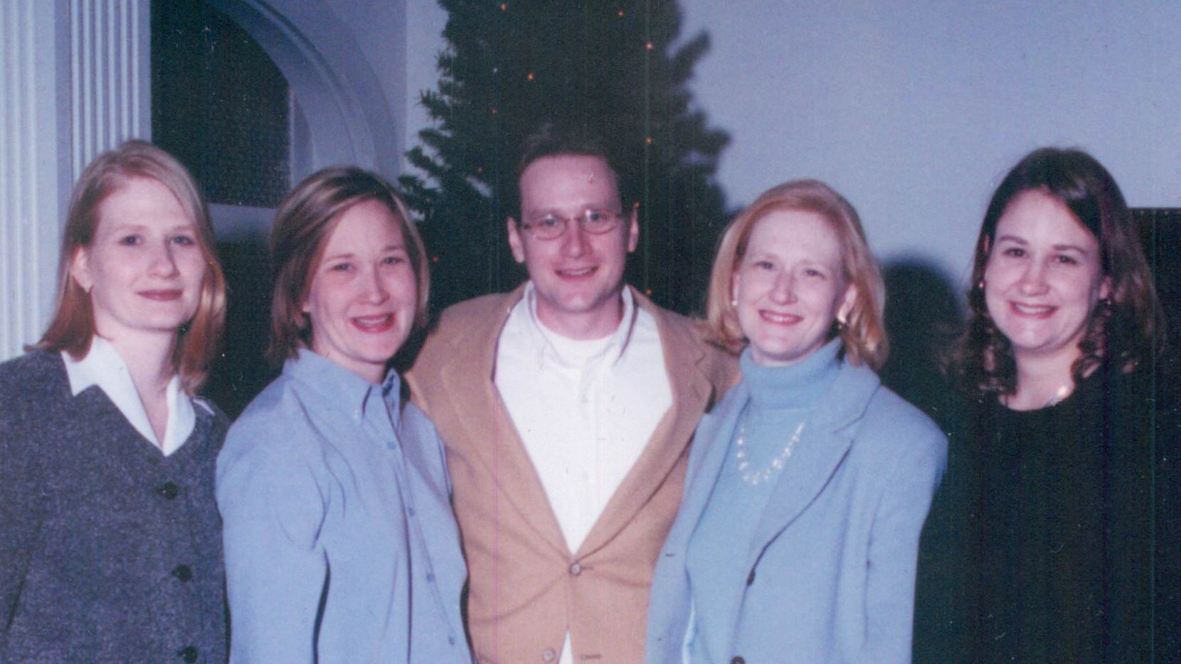 Author Rudolph Bush and his four sisters at their grandmother's 90th birthday party in 2001. From left, Catherine Wetzel, Margaret Kerr, Rudolph Bush, Anna Bush, and Mary Smith.