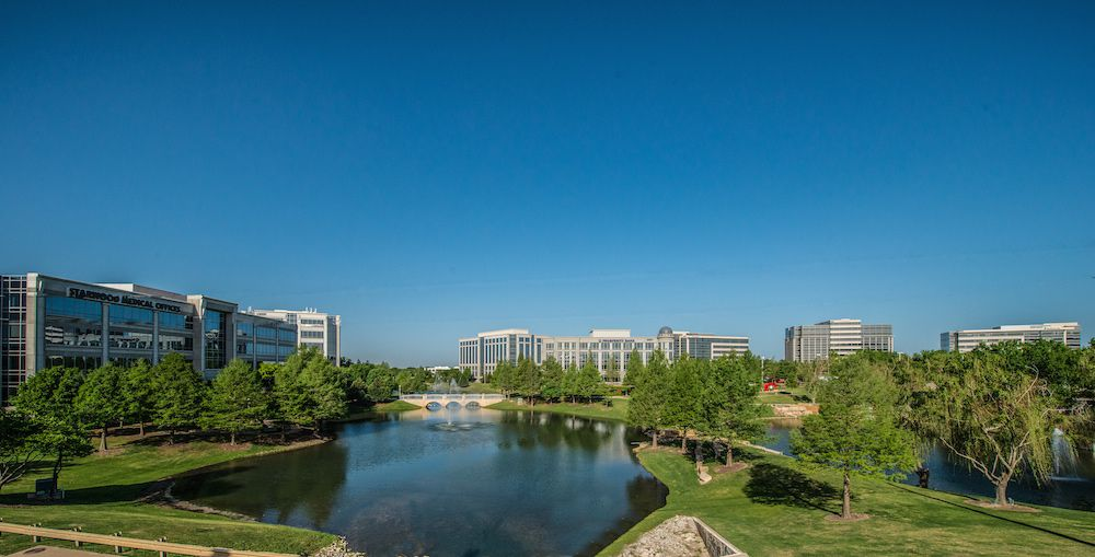 Hall Park includes more than a dozen office buildings with more than 2 million square feet.