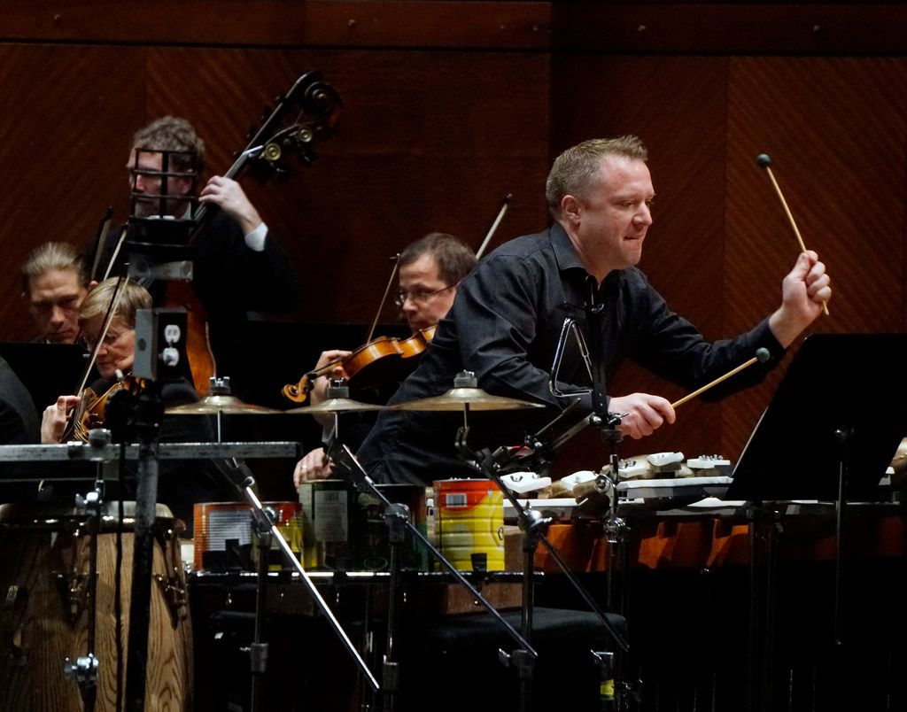 Percussion soloist Colin Currie plays the Andrew Norman  percussion concerto Switch with the Fort Worth Symphony Orchestra and music director Miguel Harth-Bedoya on Friday at Bass Performance Hall in Fort Worth.