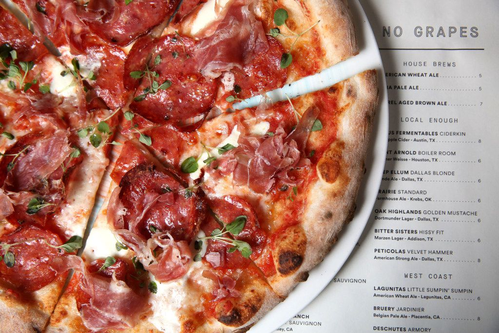 "Sixty Vines' wood-fired ""butcher"" pizza"