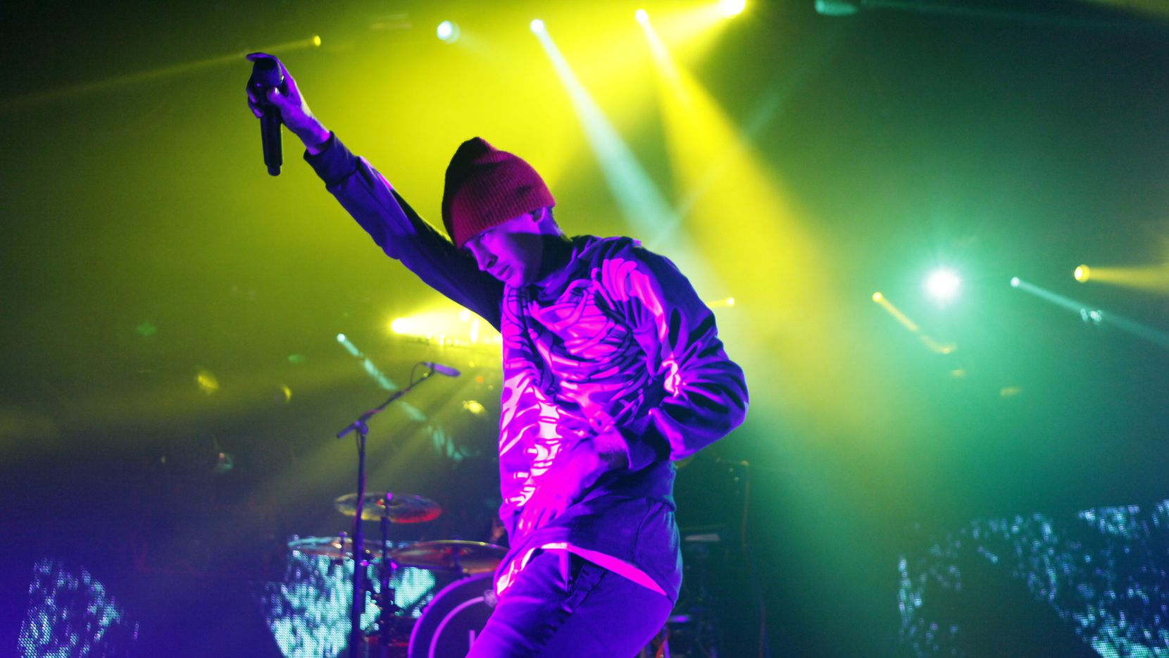 Twenty One Pilots lead singer Tyler Joseph performs at the South Side Ballroom, on Thursday, Oct. 1, 2015 in Dallas.