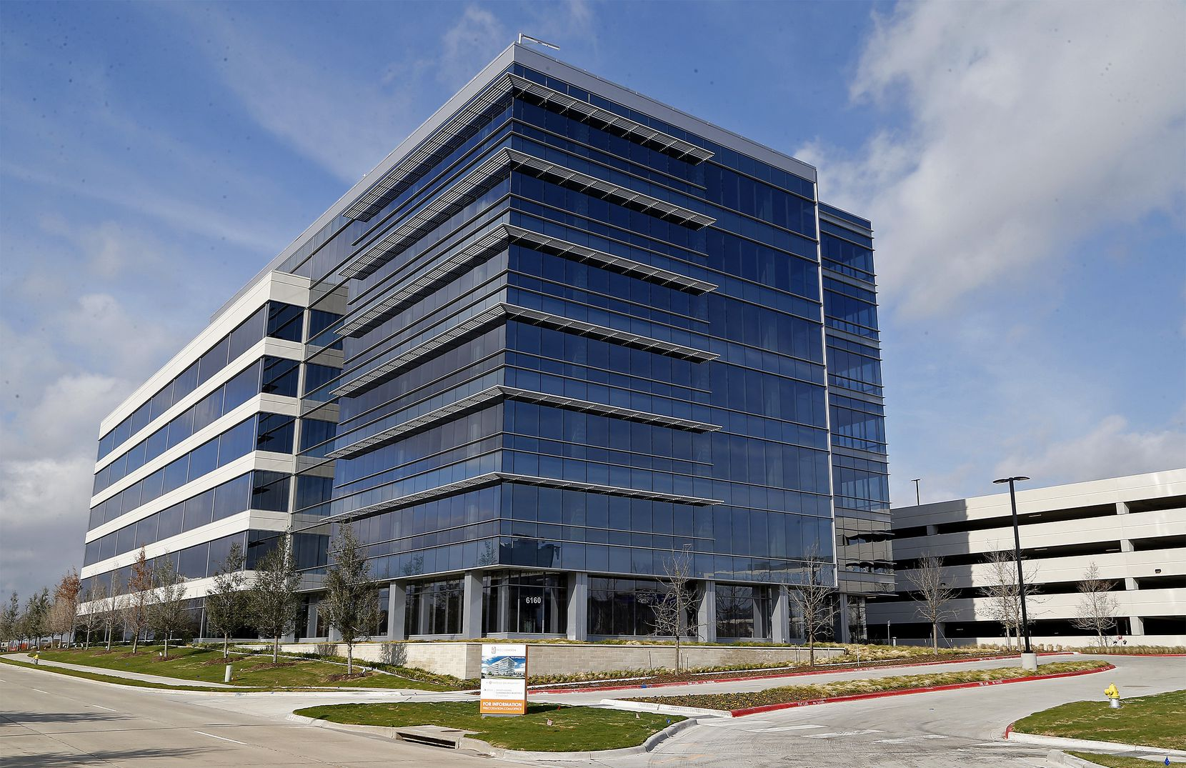 The first office building in Frisco Station opened in early 2018.
