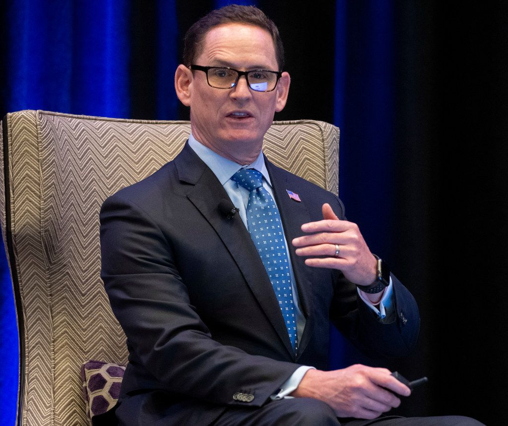 Dallas County Judge Clay Jenkins speaks to city officials from across Dallas County at his State of the County address Thursday.