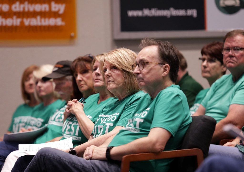 McKinney residents listen to public comments regarding a plan to expand U.S. Highway 380 during a City Council meeting at McKinney City Hall in July.