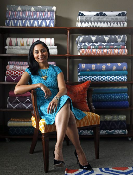 Mili Suleman started Kufri Life Fabrics to pursue her lifelong passion for textiles from all over the world.