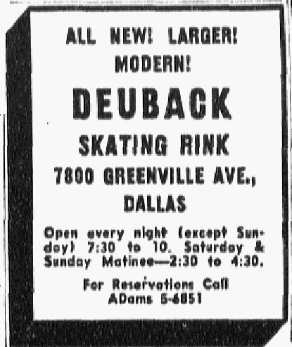 An advertisement in the Dec. 14, 1957, issue of The Dallas Morning News.