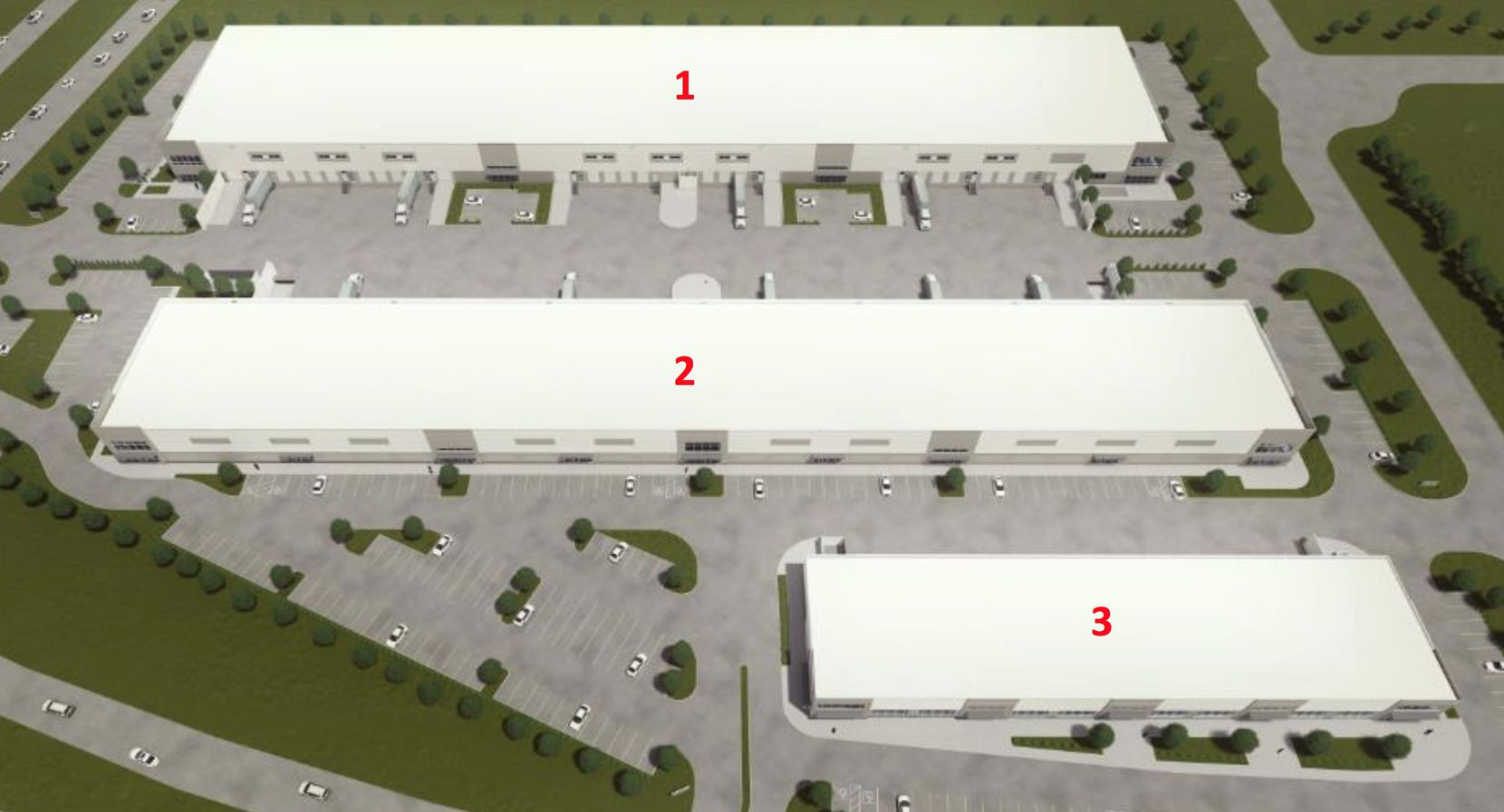The planned business park will have three buildings with almost 270,000 square feet.