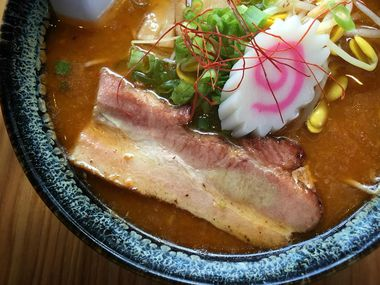 A bowl of shoyu tonkotsu ramen at Oni Ramen in Fort Worth. (File/DMN)