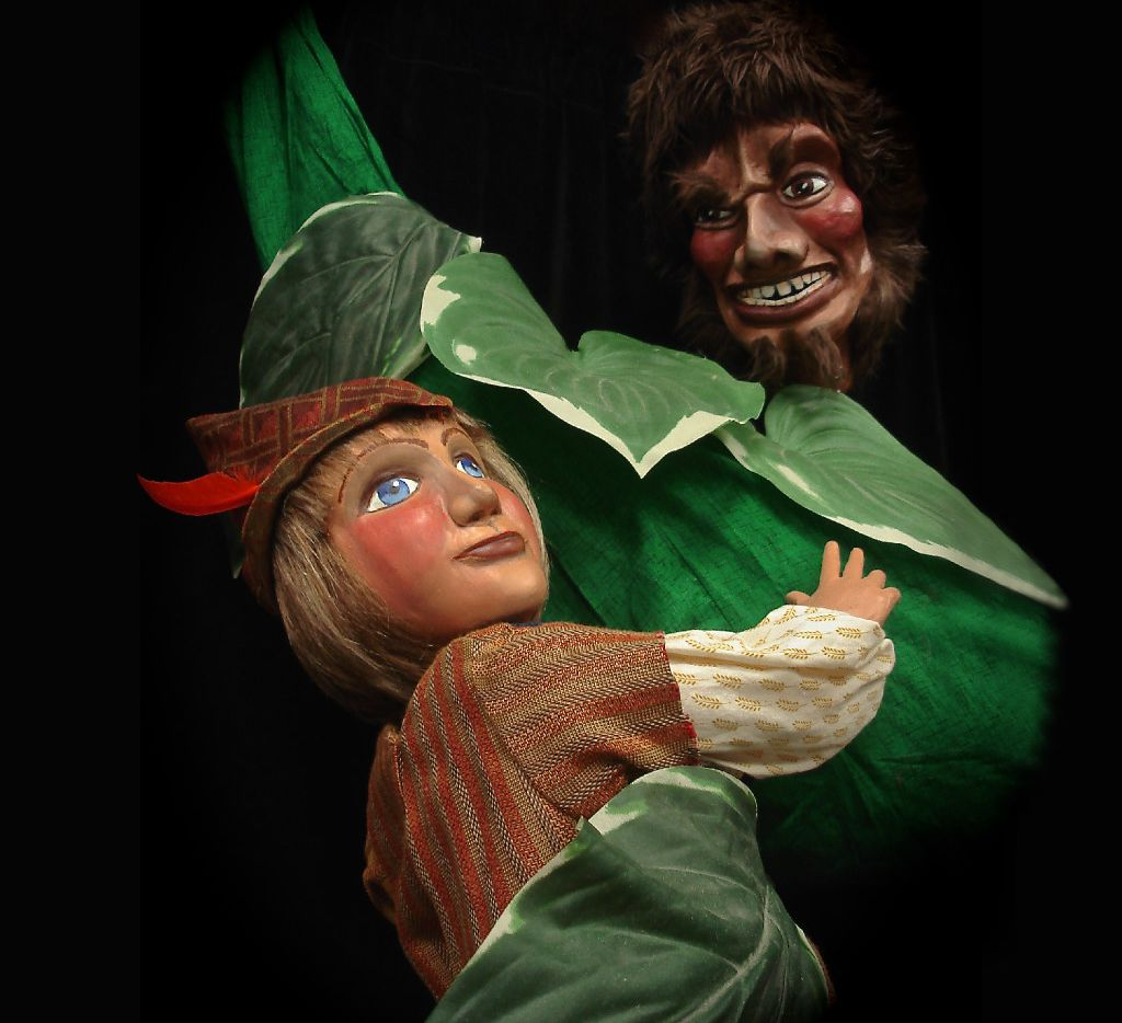 'Jack and the Beanstalk,' a Kathy Burks Theatre of Puppetry Arts production, is presented by Dallas Children's Theater March 3-26, 2017 at the Rosewood Center for Family Arts in Dallas.