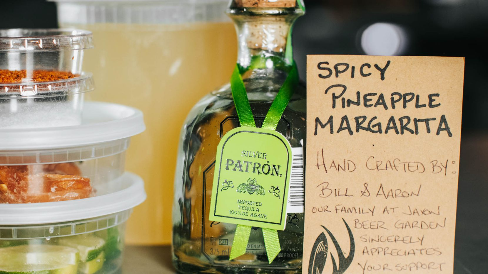 Spicy Pineapple Margarita cocktail kit from Jaxon Texas Kitchen and Beer Garden
