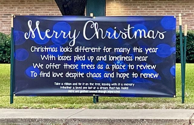 Irving First Church of the Nazarene is inviting visitors to hang ornaments or ribbons from their trees as a symbol of community.