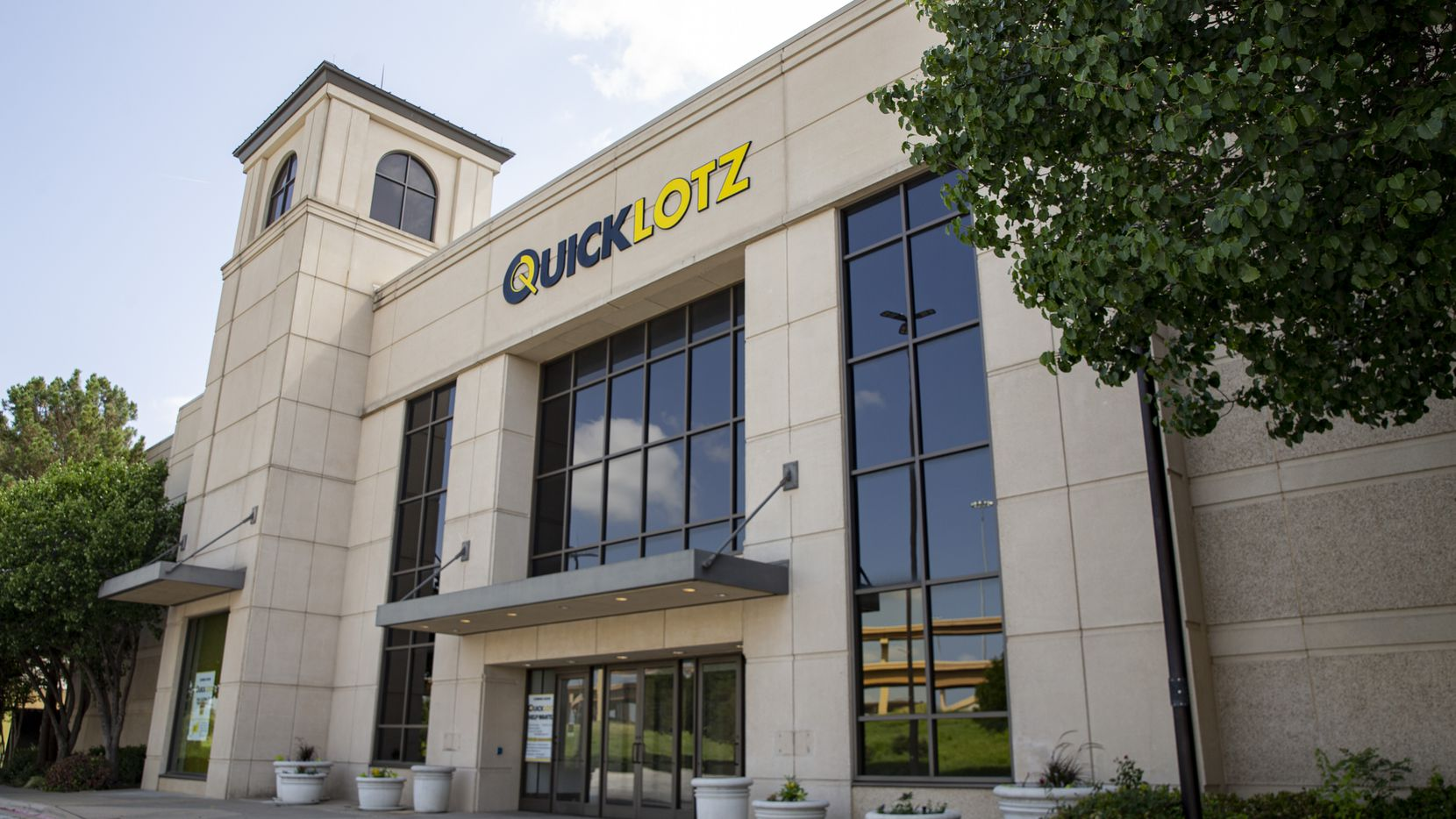 The exterior of Quicklotz located in the former Nordstrom store at North East Mall in Hurst. This is the exit. The store entrance is on the mall side.
