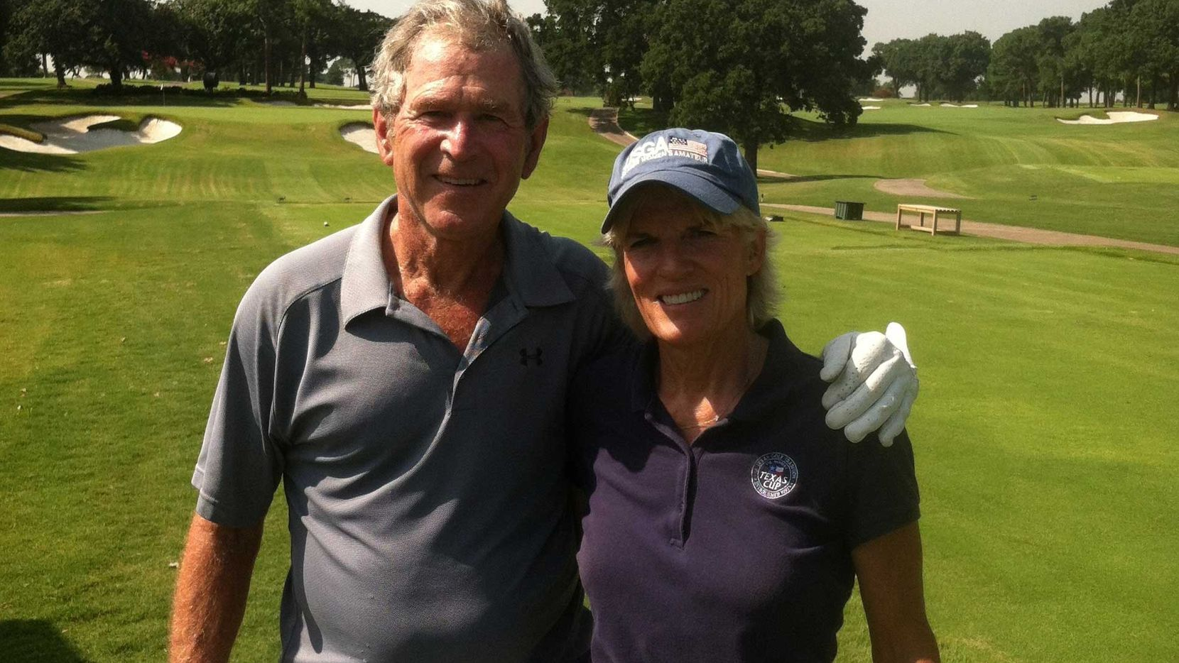 Carolyn Creekmore of Dallas made her fifth career hole in one on Aug. 1. Her playing partner at Brook Hollow Golf Club was former president George W. Bush.