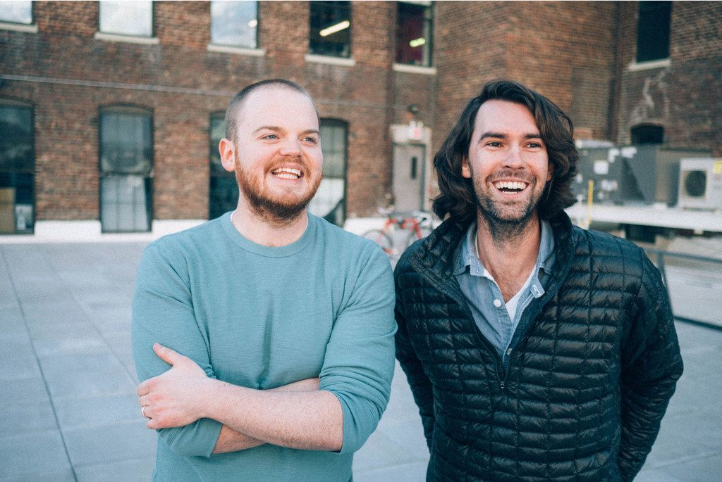 Zack Akers (left) and Skip Bronkie are co-creators of the podcast Limetown