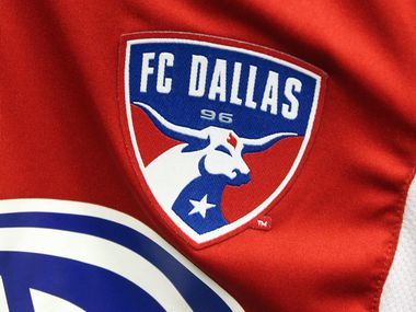 The team logo on the Adidas game jersey for the FC Dallas swag project photographed on Thursday, July 4, 2013.  (Louis DeLuca/Dallas Morning News)Adidas
