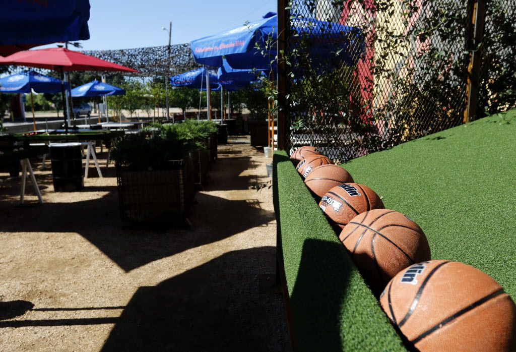 Outdoor patio and play area at Off-Site Kitchen's new location in Trinity Groves in Dallas on Thursday, June 18, 2015